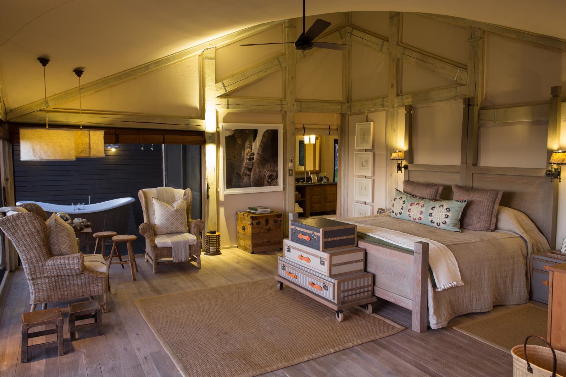 Luxuriöses Zelt im Abu Camp, Okavango Delta, Botswana
