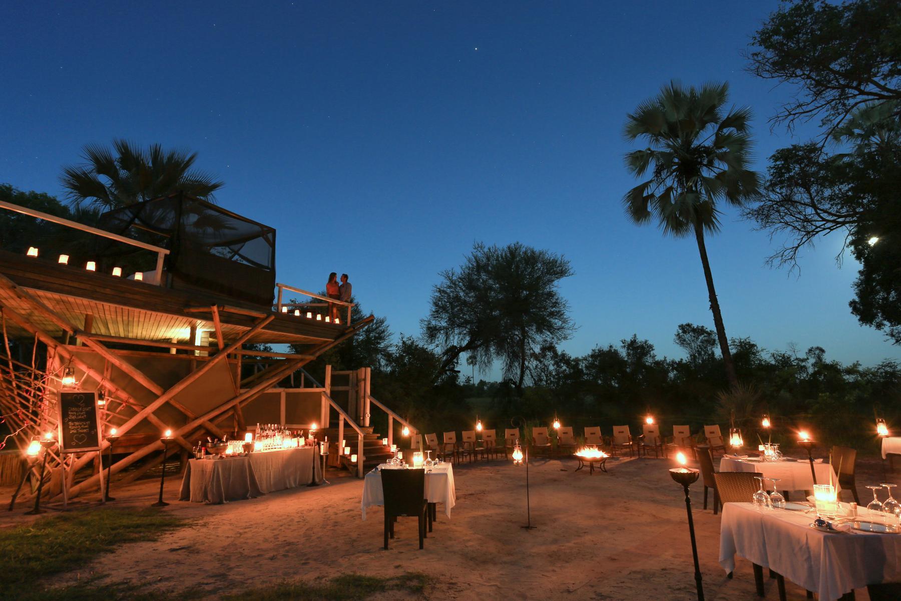 Dinner im Abu Camp, Okavango Delta, Botswana