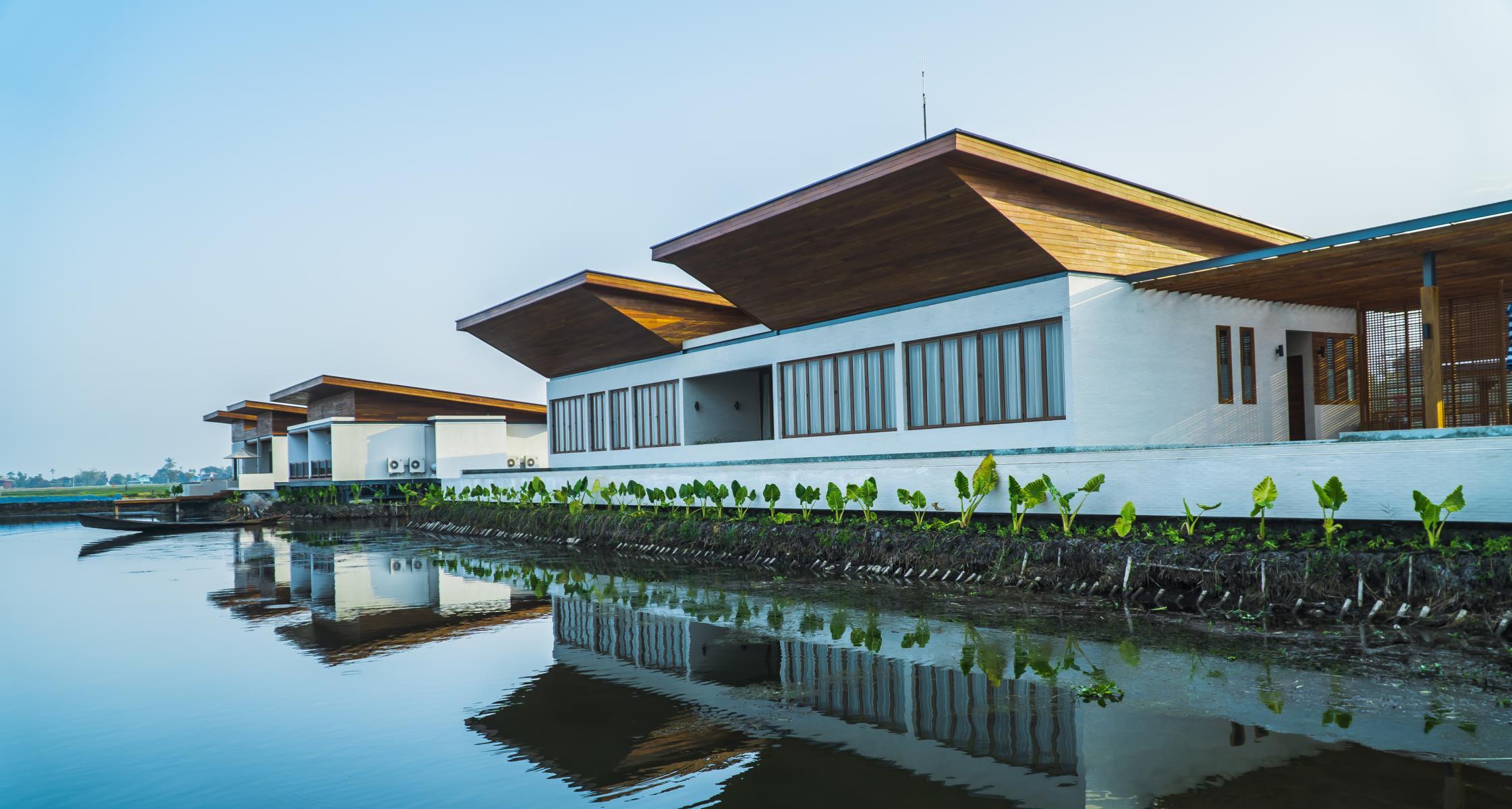 Die Ziimer Sofitel Inle am Inle See in Myanmar von außen