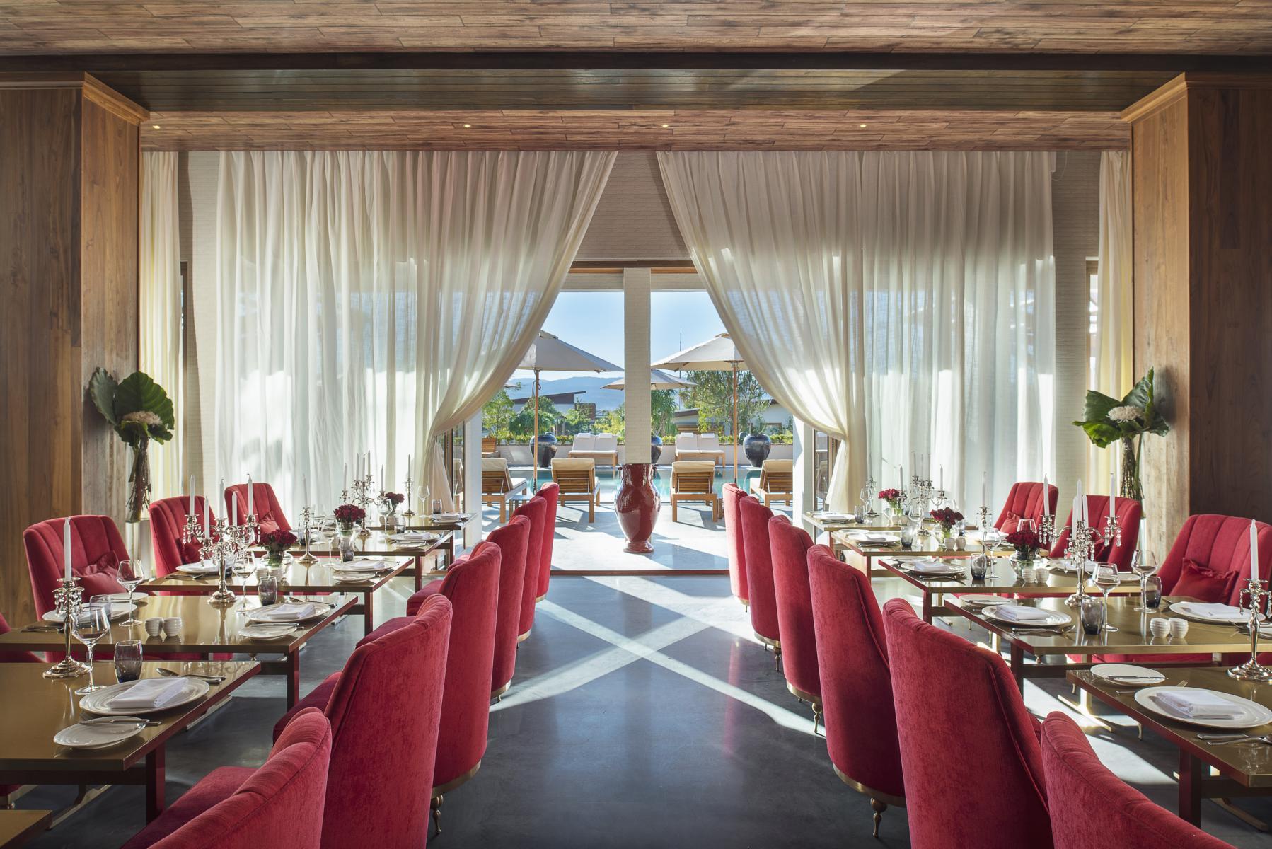 Das Restaurant des Sofitel Inle am Inle See in Myanmar