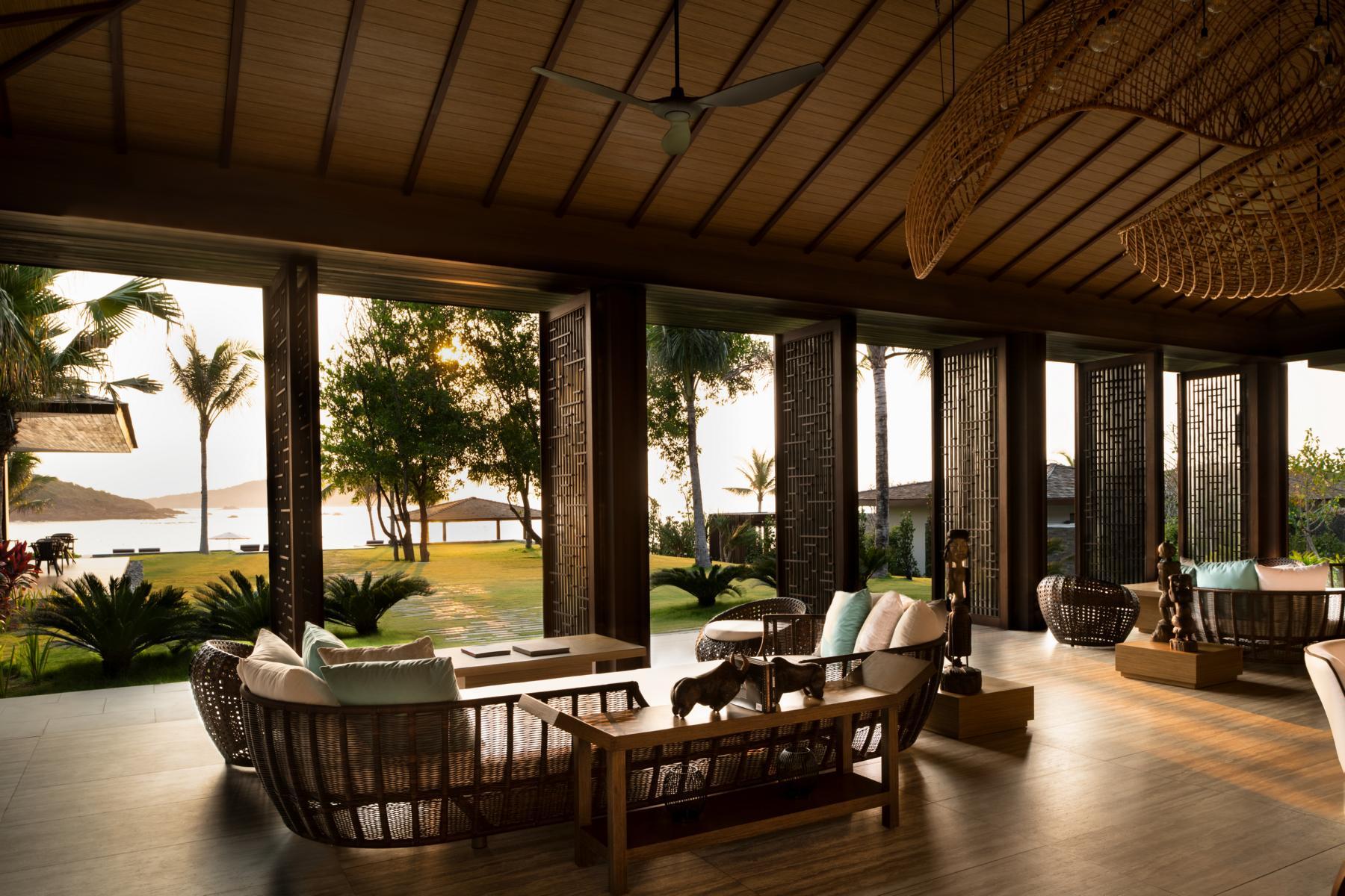 Die Lobby in den Anantara Villas Quy Nhon in Vietnam