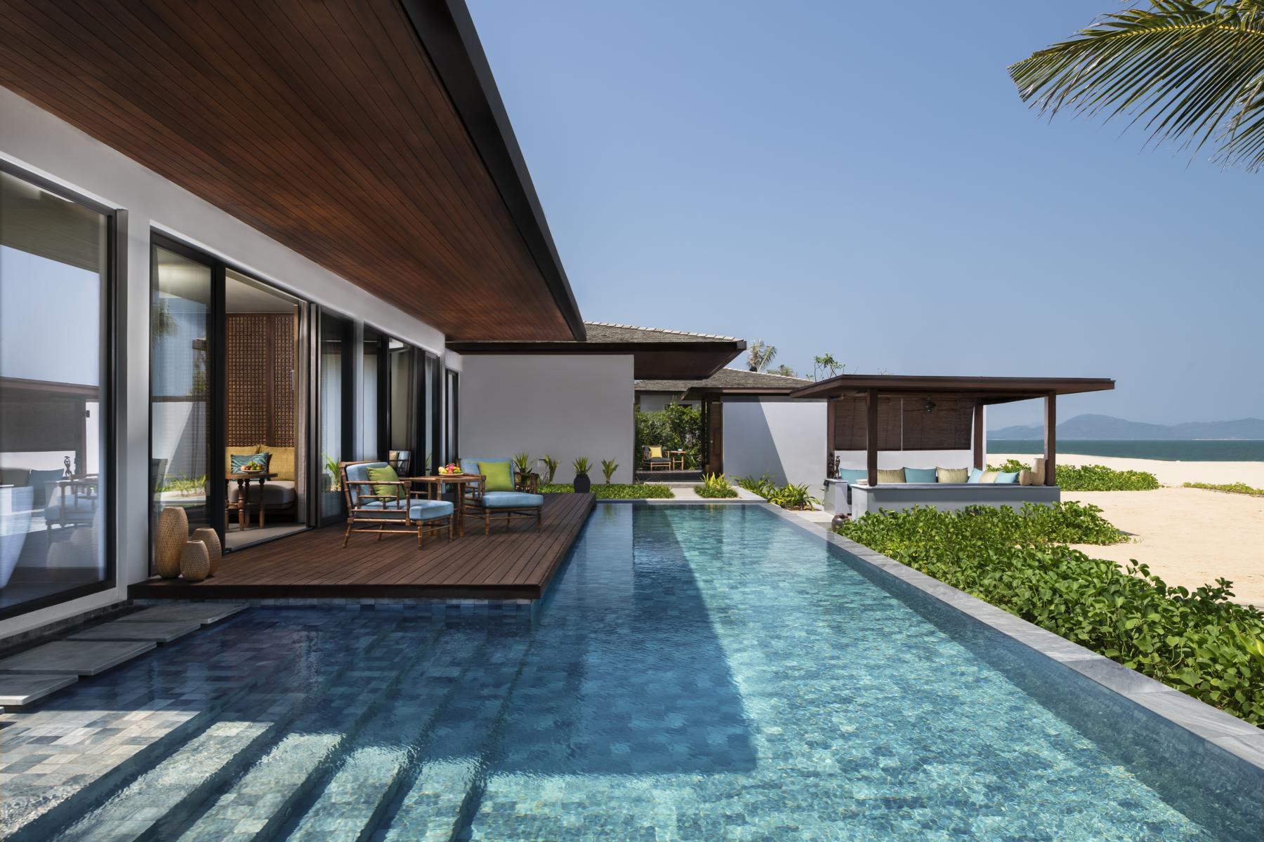 Pool der 2 Bedroom Beach Villa in den Anantara Villas Quy Nhon in Vietnam