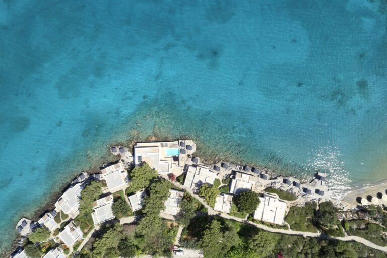 MinosArtBeach - K1600_3.Aerial-Minos-Beach-bungalows-and-beach-1