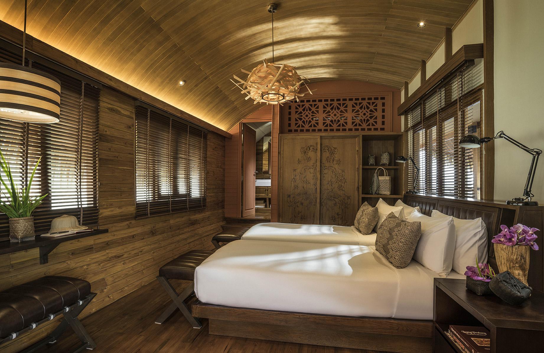 Schlafzimmer auf der Anantara GYPSY