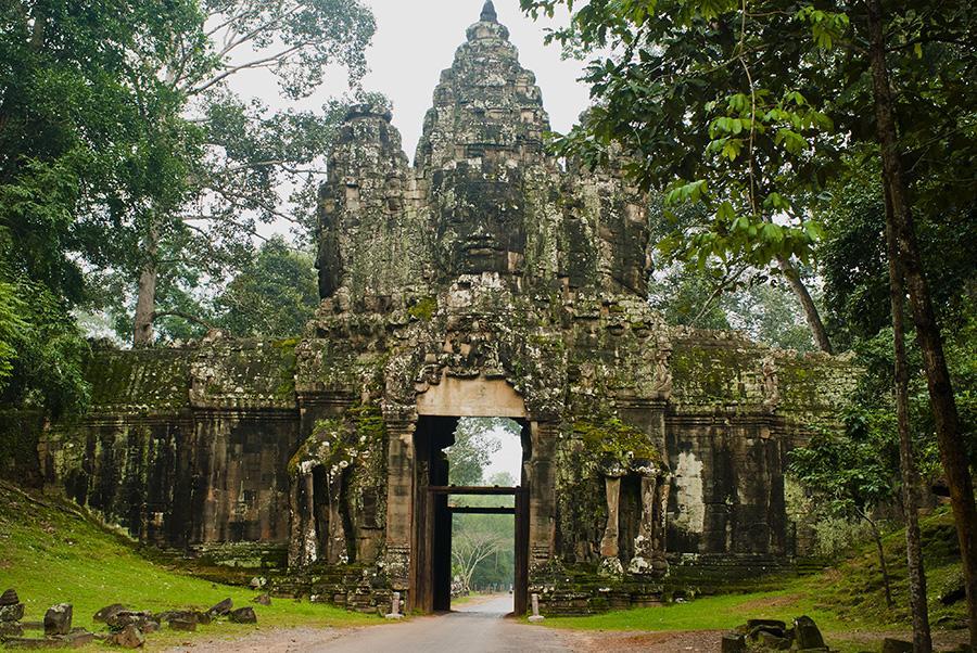Tempel von Angkor in Siem Reap in Kambodscha bei einer Kreuzfahrt mit der Aqua Mekong