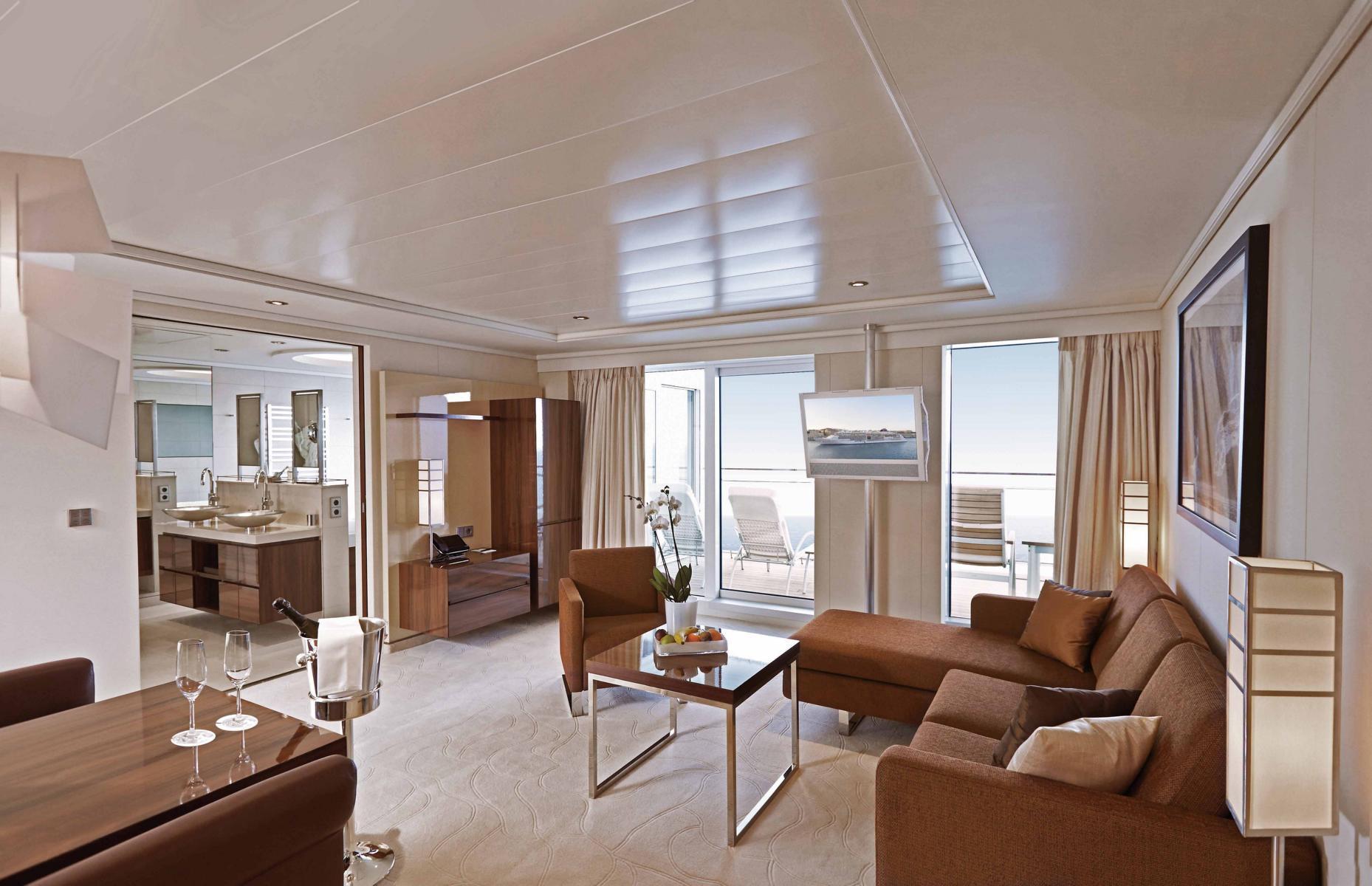 Penthouse Suite auf der MS Europa 2