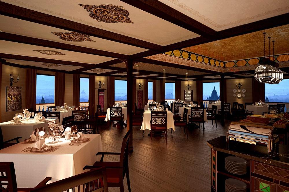 Restaurant auf der Anawrahta der Heritage Line in Myanmar