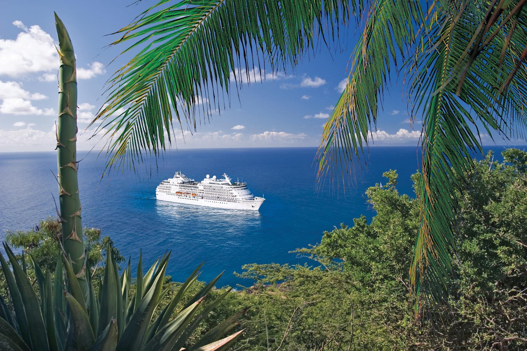 Die Regen Seven Seas Navigator in tropischen Küstengewässern