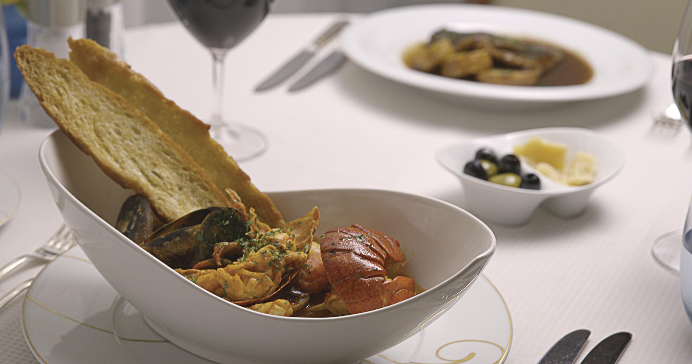 Abendessen auf der Regent Seven Seas Mariner