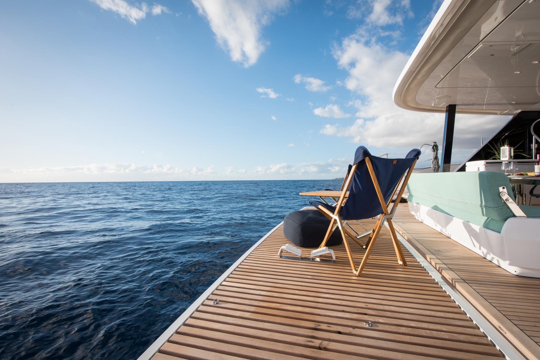 Terrasse am Heck des Samadhi Ocean Resort
