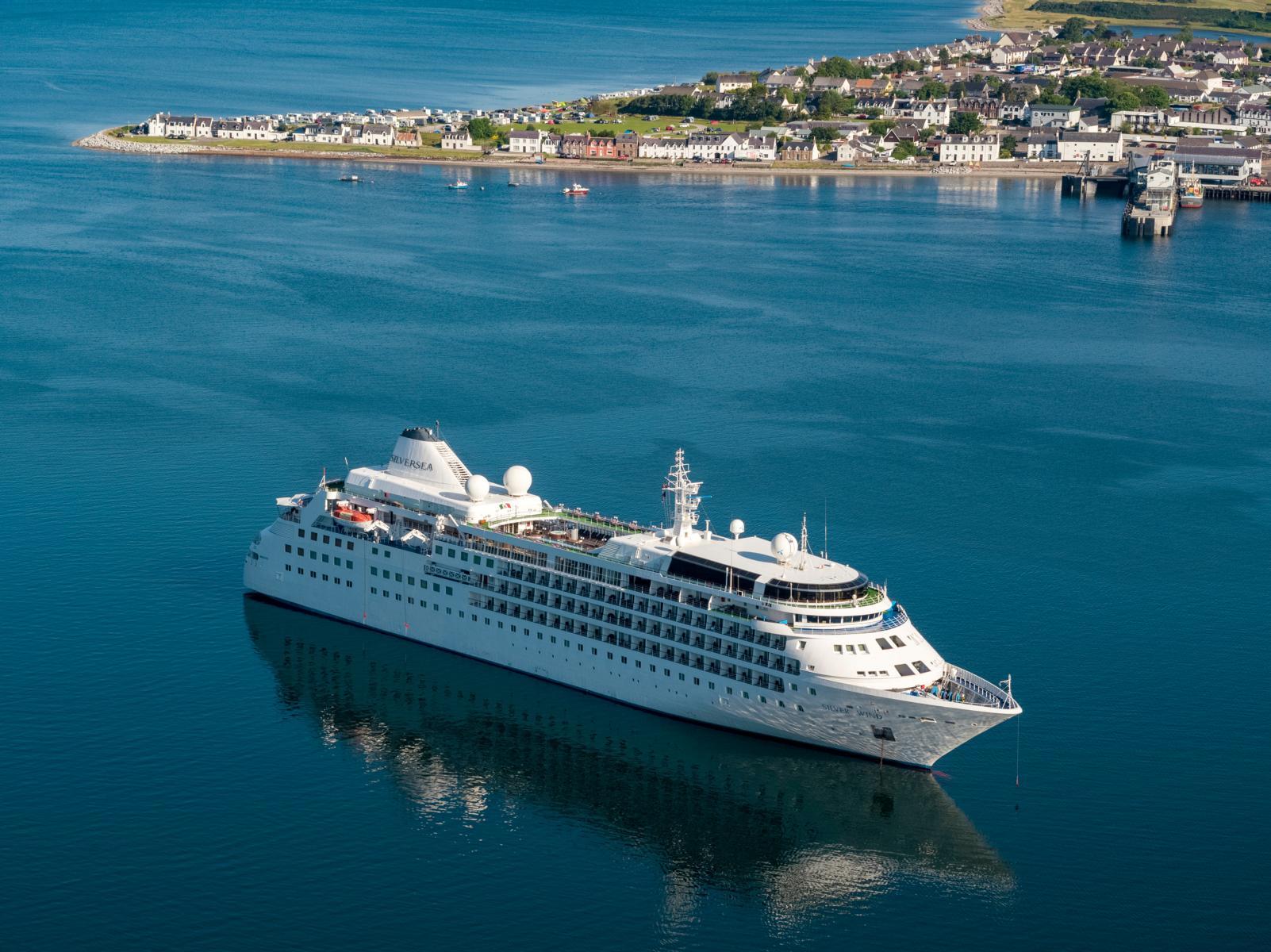 Die Silver Wind von Silversea Cruises in Küstennahen Gewässern