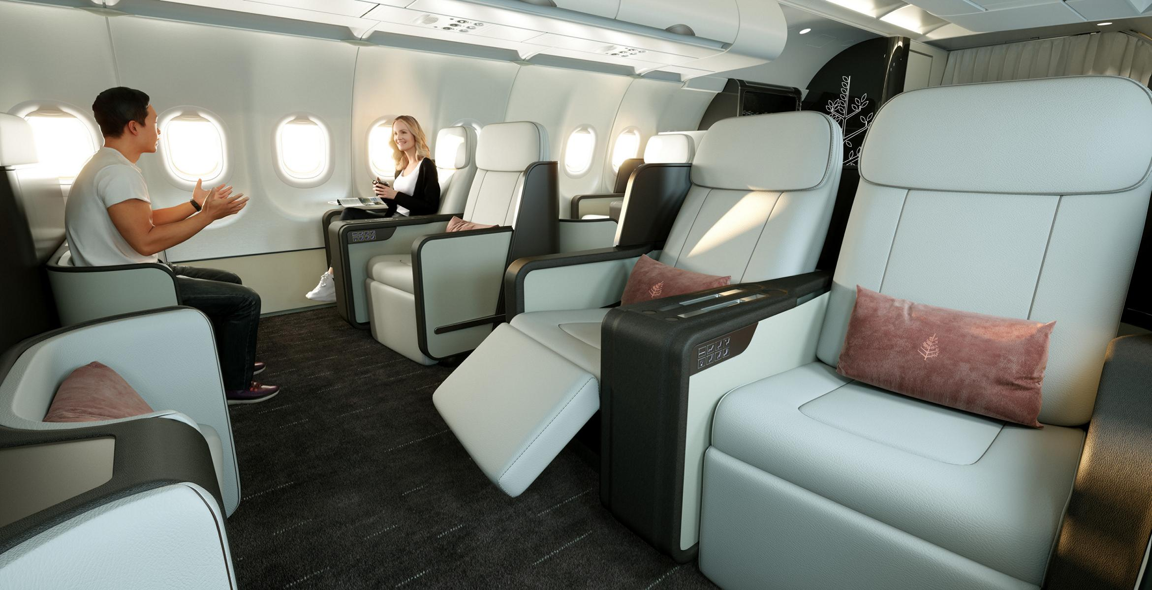Das geräumige Interieur des Four Seasons Private Jet