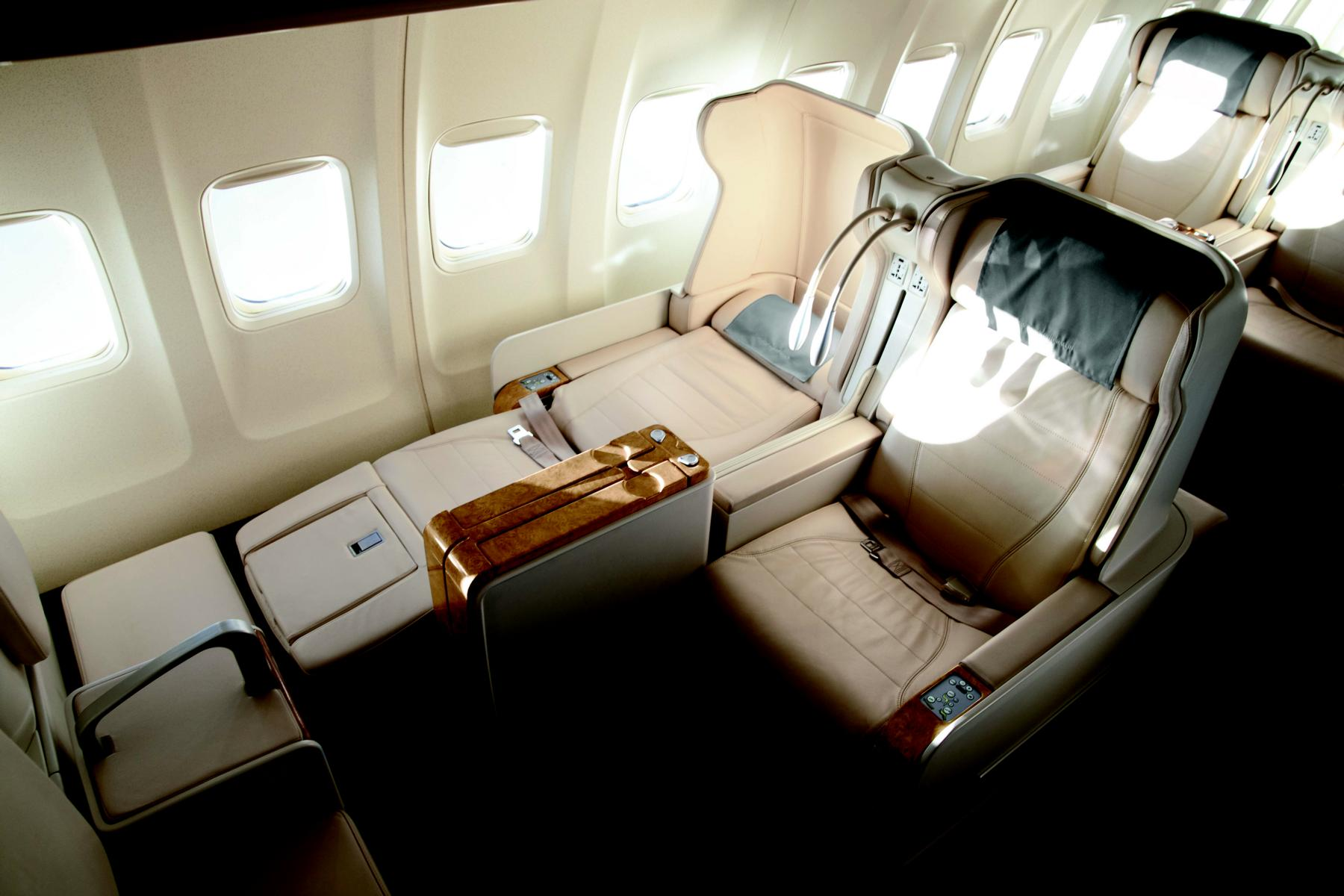 Interieur des Private Jets Albert Ballin von Hapag Lloyd