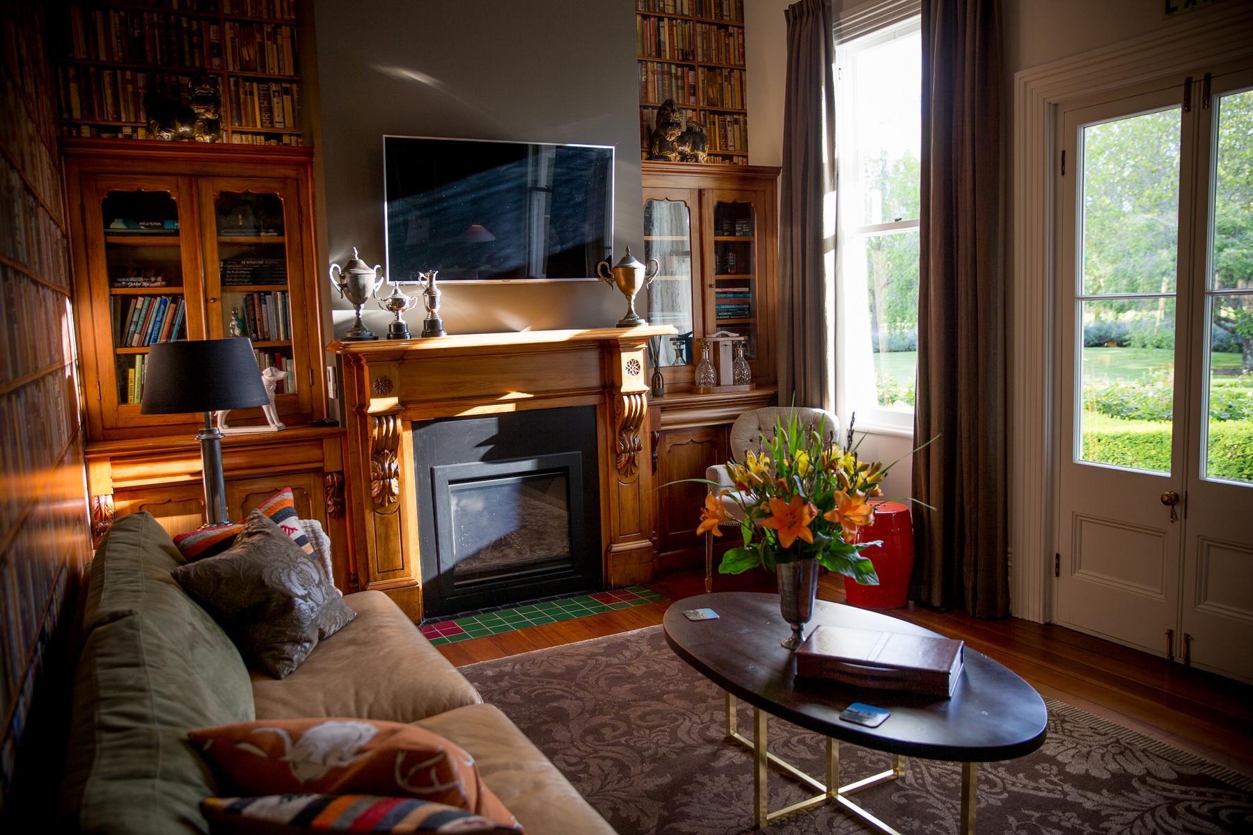 Wohnzimmer in der Marlborough Lodge in Neuseeland