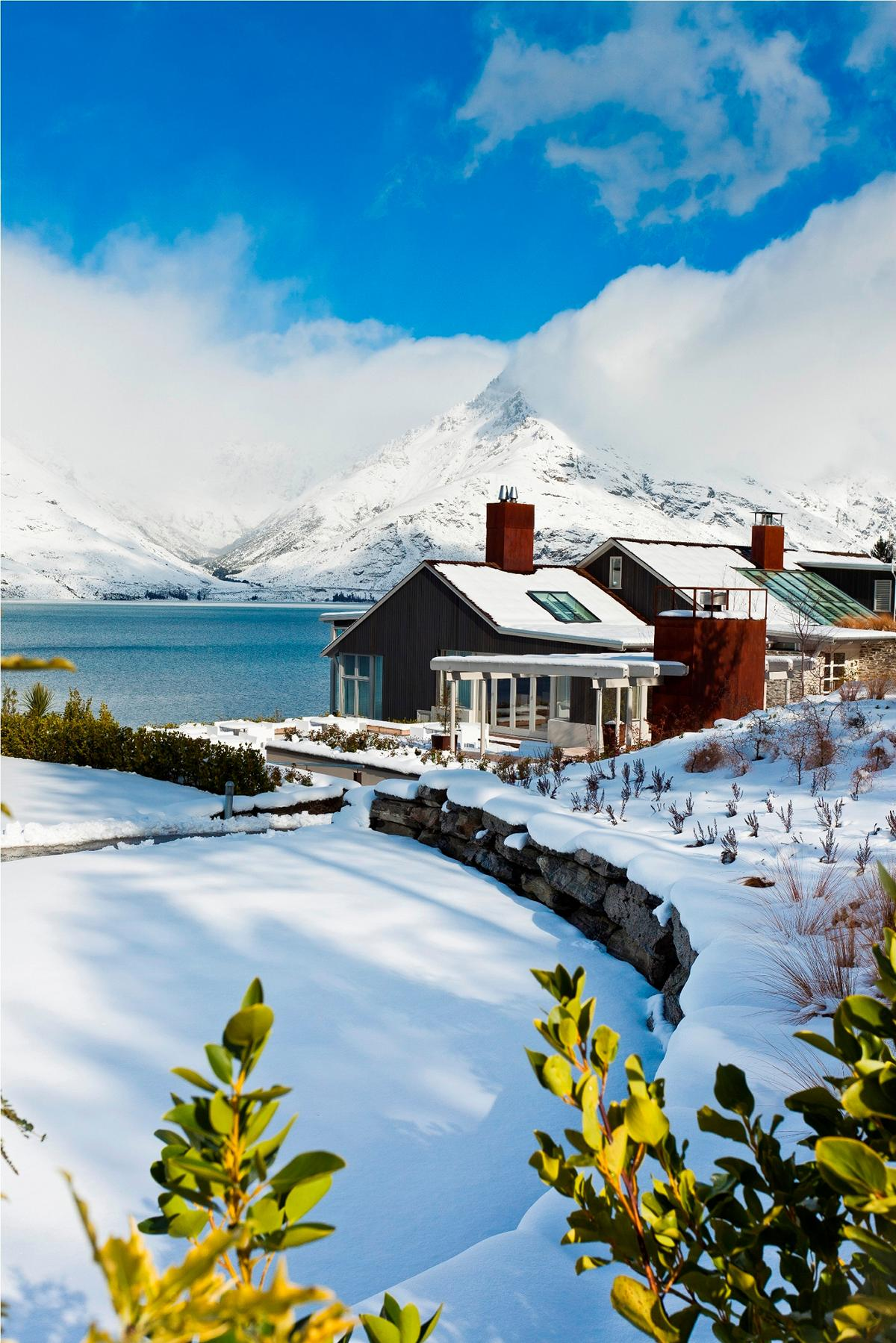 Die Matakauri Lodge in Neuseeland im Winter